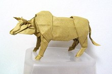 Origami Cattle by Satoshi Kamiya on giladorigami.com