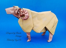 Origami Sheep by Satoshi Kamiya on giladorigami.com