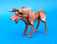 Origami Bull moose by Robert J. Lang on giladorigami.com