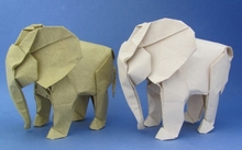 Crease Pattern Origami Elephant By Sipho Mabona On Giladorigami