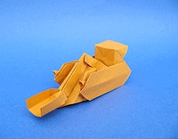 Origami Power shovel by Yoshihide Momotani on giladorigami.com