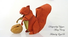 Origami Squirrel by Nguyen Hung Cuong on giladorigami.com