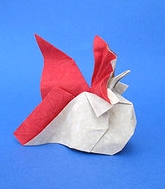 Origami Rooster by Hoang Tien Quyet on giladorigami.com