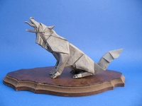 112 Square Origami Gray Wolf By Quentin Trollip On Giladorigami