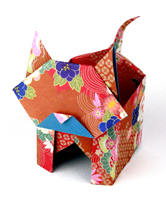 How to make Origami Paper Box - Easy Origami cat box - Paper ... | 200x166