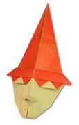Origami Witch head by Nick Robinson on giladorigami.com