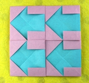 Origami Arrow tessellation by Nick Robinson on giladorigami.com