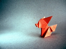 Origami Fox cub by Ryo Aoki on giladorigami.com