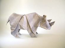 Origami Rhinoceros by Ryo Aoki on giladorigami.com