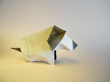 Origami Puppy by Viviane Berty on giladorigami.com