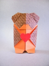 Origami Teddy bear by Viviane Berty on giladorigami.com