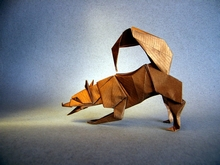 Origami Husky - playing by Christophe Boudias on giladorigami.com