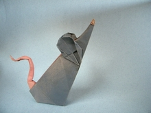 Origami Mouse by Christophe Boudias on giladorigami.com
