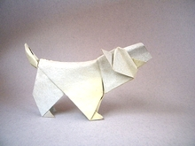Origami West Highland White Terrier (Westie) by Christophe Boudias on giladorigami.com