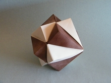 Origami Double cube by David Brill on giladorigami.com