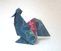 Origami Rooster by Francisco Javier Caboblanco on giladorigami.com