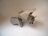 Origami Hippopotamus baby by Juan Francisco Carrillo on giladorigami.com