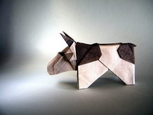 Origami Cow by Fernando Castellanos on giladorigami.com