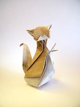 Origami Cat by Chung on giladorigami.com