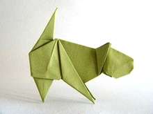 Origami Cat by Edwin Corrie on giladorigami.com