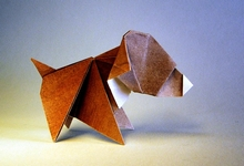 Origami Dog by Edwin Corrie on giladorigami.com