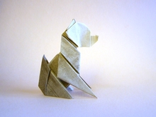 Origami Dog - seated by Edwin Corrie on giladorigami.com