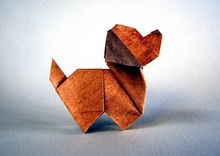 Origami Puppy by Edwin Corrie on giladorigami.com