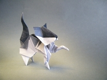 Origami American shorthair cat by Roman Diaz on giladorigami.com