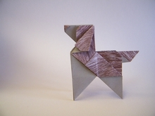Origami Puppy by Roman Diaz on giladorigami.com