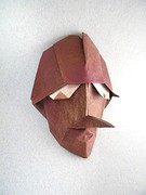Origami Pinocchio mask 2 by Giang Dinh on giladorigami.com