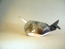 Origami Narwhal by Xin Can (Ryan) Dong on giladorigami.com