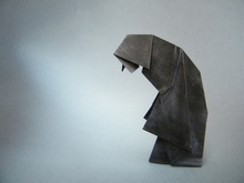 Origami Nun at Prayer by Neal Elias on giladorigami.com