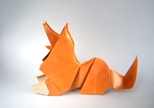 Origami Collie by Andrey Ermakov on giladorigami.com