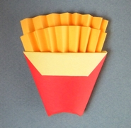 Origami French fries by Charles Esseltine on giladorigami.com