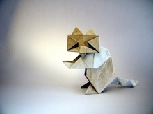 Origami Raccoon by Oriol Esteve on giladorigami.com