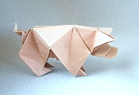 Origami Pig by Peterpaul Forcher on giladorigami.com