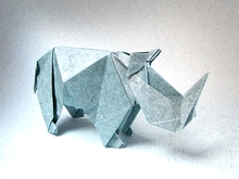 Origami Rhinoceros by Peterpaul Forcher on giladorigami.com