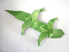 Origami Lizard - action by Tomoko Fuse on giladorigami.com
