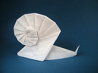 Origami Snail by Tomoko Fuse on giladorigami.com