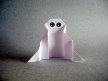 Origami Ghost by Stephane Gigandet on giladorigami.com