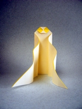 Origami Wavy ghost by Stephane Gigandet on giladorigami.com
