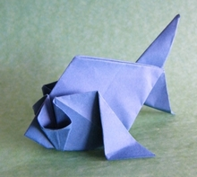 Origami Goldfish by Juan Gimeno on giladorigami.com