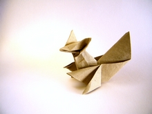 Origami Squirrel by Roberto Gretter on giladorigami.com