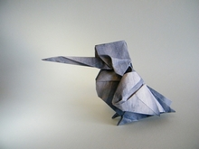 Origami Kingfisher by Gen Hagiwara on giladorigami.com