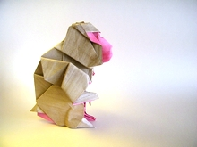 Origami Japanese macaque by Gen Hagiwara on giladorigami.com