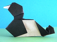 Origami Lesser Scaup by Andrew Hudson on giladorigami.com