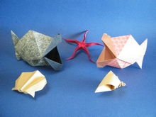 Origami Kissing fish by Junior Jacquet on giladorigami.com