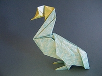 Origami Duck by Kunihiko Kasahara on giladorigami.com