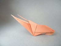 Origami Prawn by Kunihiko Kasahara on giladorigami.com