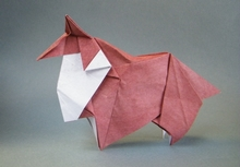 Origami Collie by Ouchi Koji on giladorigami.com